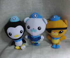 "Set of 3 Fisher Price Octonauts captain Barnacles Kwazii Peso plush 6"" cute"