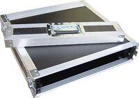 """2U 2 Door 19"""" Rack Mount PC Amp Swan Flight Case (Hex)"""