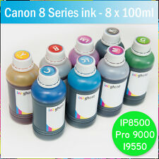 8 x 100ml refill Ink CANON compatible IP8500 Pro 9000 I9550 CISS - 8 Series inks