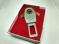 Audi Seatbelt Length Extender Sleek Silver Audi Logo-Like Button