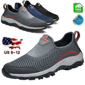 Men's Casual Shoes Slip On Outdoor Sneakers Lightweight Hiking Walking Shoes SZ