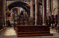 Innsbruck Tirol alte Color Postkarte ~1910 Inneres der Hofkirche Kanzel Grabmal