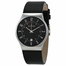 Relojes de pulsera Date de acero inoxidable de cuero
