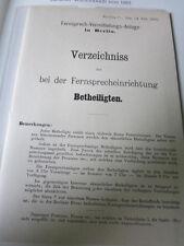 Post Archiv Edition 1 8 Fernsprechbuch Telefonbuch Berlin 1881