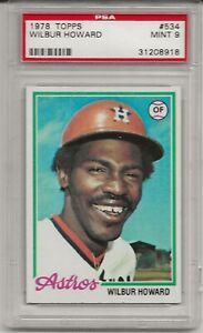 1978 TOPPS #534 WILBUR HOWARD, PSA 9 MINT, HOUSTON ASTROS, TOUGH, LOW POP, L@@K