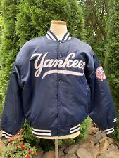 Vintage Starter Diamond Collection New York Yankees Satin Jacket L Navy MLB