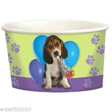 PUPPY PARTY ICE CREAM CUPS(8) ~ Birthday Party Supplies Dessert Treat Green Dog
