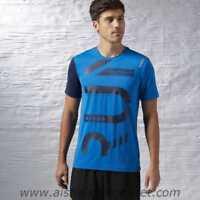 Reebok One Series Running Short Sleeve ActivChill Tee Size XS Blue RRP £38 BNWT
