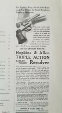 1909 Hopkins & Allen triple-action safety police revolver gun vintage ad