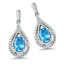 Colore SG Sterling Silver Blue Topaz Post Earrings Retails $250