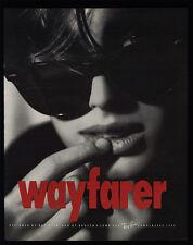 1991 RAY BAN Wayfarer Sunglasses Retro 90's Woman VINTAGE MAGAZINE ADVERTISEMENT