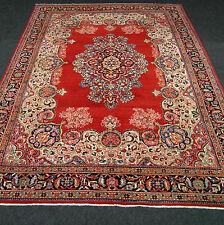 Orient Teppich Beige 417 x 317 cm Rot Blau Perserteppich Red Blue Old Carpet Rug