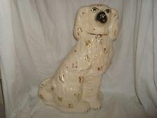 "Antique Staffordshire Spaniel Dog - 14-1/2"" Tall"