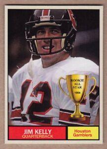 JIM KELLY '84 Houston Gamblers USFL / MC Rookie All Star #16 / NM+ free ship