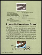 Express Mail Bald Eagle Flight; USPS First Day Souvenir Page #2542 $32.50 Cat.