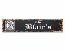 SPFN0380 The BLAIR'S Family Name Street Chic Sign Home Decor Gift Ideas