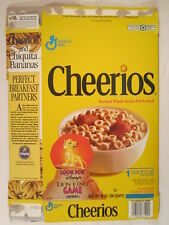 MT General Mills Cereal Box CHEERIOS 1994 10oz LION KING GAME [G7D5f]