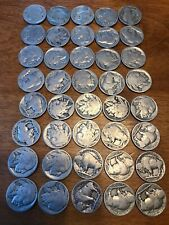 1 Roll No Date Buffalo Nickels 40 Coins Collector Coins Jewelry Art Laser Charms