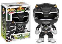 "New Pop TV: Power Rangers - Black Ranger 3.75"" Funko Vinyl COLLECTIBLE"