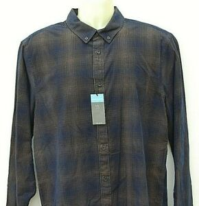 Marks & Spencer 100% Cotton Check Shirt Long Sleeve Flannel Lumberjack Large