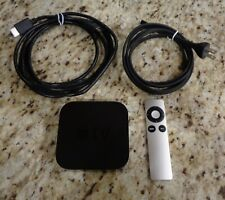 Apple TV A1427 8GB Digital HD Media Streamer - Black, Remotes and Cables