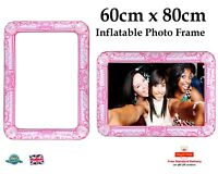 BIG GIANT INFLATABLE PHOTO FRAME Selfie Frame Booth Props Party 60 x 80cm PINK