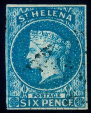 MOMEN: ST HELENA SG #1 1856 IMPERF USED LOT #60415