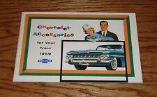 1959 Chevrolet Car Accessories Sales Brochure 59 Chevy