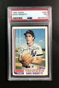 1982 Topps Dave Righetti #439 PSA 7 Near Mint Yankees