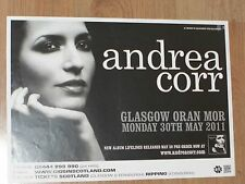 Andrea Corr - Glasgow may 2011 tour concert gig poster