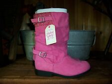 FADED GLORY GIRLS TODDLER PINK BOOTS SIZE 7 KIDS CASUAL DRESS PAGEANT SHOES NEW