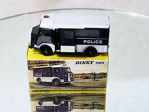 Dinky Toys F n° 566 Citroën tube HY car de Police 1/43 en boîte copie