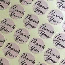 Thank You Seal Sticker 54pc Packaging, Seal, Birthday, Wedding Brown Kraft Paper