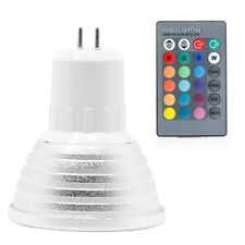 220V MR16 5W RGB LED Light Color Changing Lamp Bulb Decor + Remote Control new