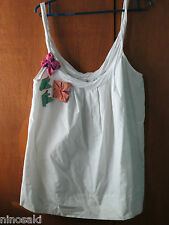 TRF WHITE SLEEVELESS SPAGHETTI TOP - SZ M