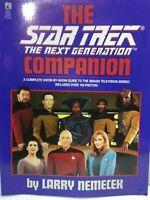 The Star Trek, The Next Generation Companion Book, by Larry Nemecek