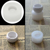 Handmade 3D Silicone Candle Soap Flower Pot Mold Casting Concrete Cup Mold NEW