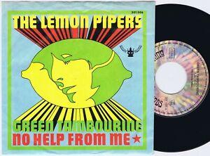 "THE LEMON PIPERS Green Tambourine German 45PS 1967 Buddah 7"""