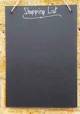 Shabby Chic Shopping List A4 Chalkboard Simple 30cm x 21cm Memo Board Blackboard