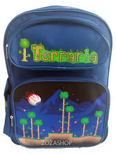 "Terraria Backpack 16"" School Large Backpack Bag New Style! Blue Backpack"