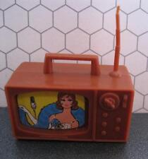 vtg 1972 Barbie Ken Doll Talking Busy Hands #1196 Brown Plastic TV Television
