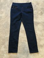 Jag Jeans Pull On High Rise Skinny Jeans Size 8 Dark Blue