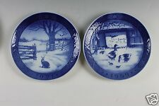 Royal Copenhagen Christmas Plate 1969 and 1971 Plates