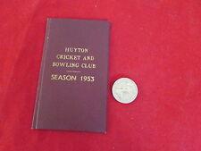 Huyton Cricket & Bowling Club 1953 ORIGINALE membri BIGLIETTO & dispositivo CARD