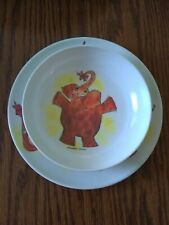 Vintage Collectible Lenox 1960 Childs Plate/Bowl Nelliephant