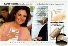 1991 Jennifer O'Neill Cover Girl replenish makeup vintage photo print ad ads63