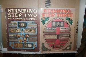 Lot 2 George Hurst Books Stamping Step Two Three Leather Tandy 1986 1988 Rare