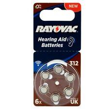 120 Pièce Piles pour appareils auditifs Rayovac Acoustique Spécial 312 braun