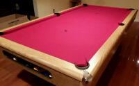 POOL TABLE 8' IMPERIAL PLAYER -  THE GAME ROOM STORE, NJ 07004 BRUNSWICK  DEALER