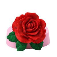3D Big Rose Flower Silicone Fondant Cake Chocolate Sugarcraft Mould Mold Tool SL